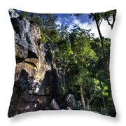 Sheer Cliff With Waterfall Throw Pillow