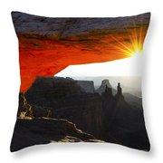 Sheer Magic Mesa Arch Utah Throw Pillow