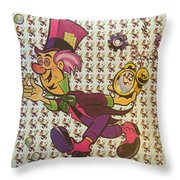 Sheet Of Mad Hatter Blotter Acid Throw Pillow by Science Source