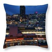 Sheffield Skyline At Night Throw Pillow