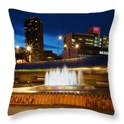 Sheffield Water Feature Throw Pillow