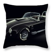 Shelby Cobra 427 - Ghost Throw Pillow by Marc Orphanos