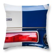 Shelby Cobra G.t. 500 Rear Emblems -0036c Throw Pillow