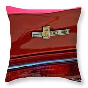 Shelby Gt 500 Mustang 4 Throw Pillow