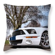Shelby On The Village Green Throw Pillow