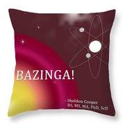 Sheldon Cooper Bazinga Throw Pillow