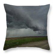 Shelf Cloud With Rain Shafts Throw Pillow