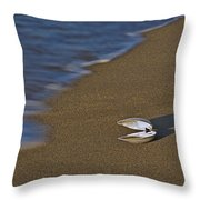 Shell By The Shore Throw Pillow