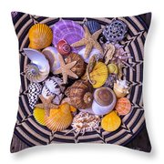 Shell Collecting Throw Pillow by Garry Gay