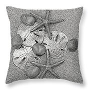 Shell Effects 15 Throw Pillow