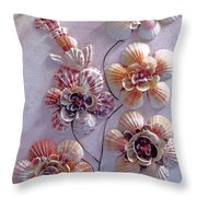 Shell Flowers  No 1  Throw Pillow