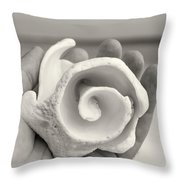 Shell On Cozumel Throw Pillow