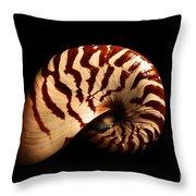 Shell Pose  Throw Pillow