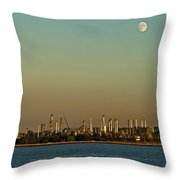 Shell Refinery Throw Pillow