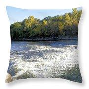 Shell Rock Dam Throw Pillow