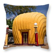 Shell-shaped Shell Station North Carolina Throw Pillow