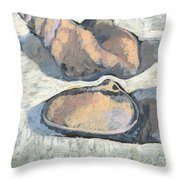 Shells With Black Ground Throw Pillow