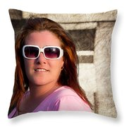 Shelly And Queen Elizabeth Throw Pillow