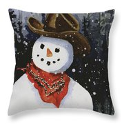 Shelly's Snowman Throw Pillow
