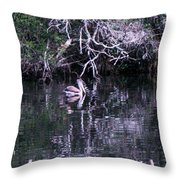 Shelter Beneath The Roots Throw Pillow