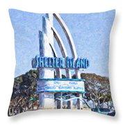 Shelter Island Sign San Diego California Usa Throw Pillow