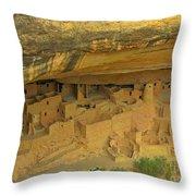 Shelter Under The Cliffs Throw Pillow