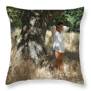 Sheltered From The Heat Throw Pillow