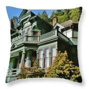 Shelton-mcmurphey House Throw Pillow