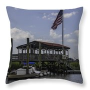 Shem Creek Bar And Grill Throw Pillow