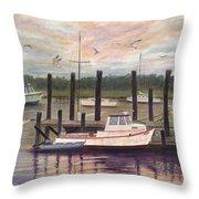 Shem Creek Throw Pillow by Ben Kiger