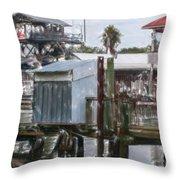 Shem Creek Dockage Throw Pillow