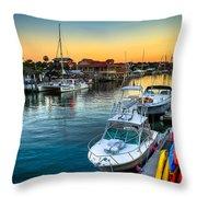 Shem Creek Sunset Throw Pillow