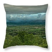 Shenandoah Green Valley Throw Pillow by Lara Ellis
