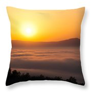 Shenandoah Spring Sunrise Throw Pillow
