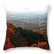Shenandoah Valley Fall Panorama Throw Pillow
