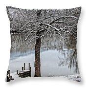 Shenandoah Winter Serenity Throw Pillow by Lara Ellis