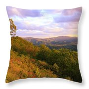 Shenandoah's Golden Hour  Throw Pillow