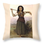Shepherdess Throw Pillow