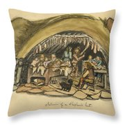 Shepherds Hut Iceland Circa 1962 Throw Pillow
