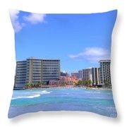 Sheraton And Royal Hawaiian View Throw Pillow