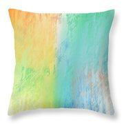 Sherbet Abstract Throw Pillow by Andee Design