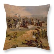Sheridan's Final Charge At Winchester Throw Pillow by American School