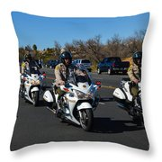 Sheriff's Motor Officers Throw Pillow
