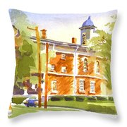 Sheriffs Residence With Courthouse II Throw Pillow