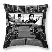Sherlock Holmes At The Station Throw Pillow