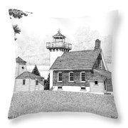 Sherwood Point Lighthouse Throw Pillow