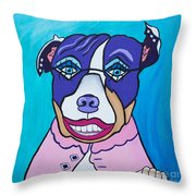She's A Pit Bull That Wears Lipstick Throw Pillow