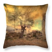 She's Like The Wind ...through My Tree Throw Pillow