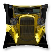 She's Yellow Throw Pillow