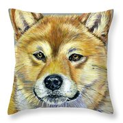 Shiba Inu - Suki Throw Pillow by Michelle Wrighton